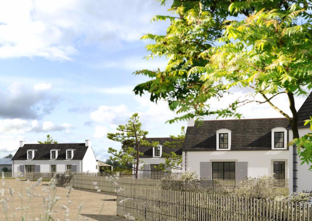 Terrain avec joli projet de maison